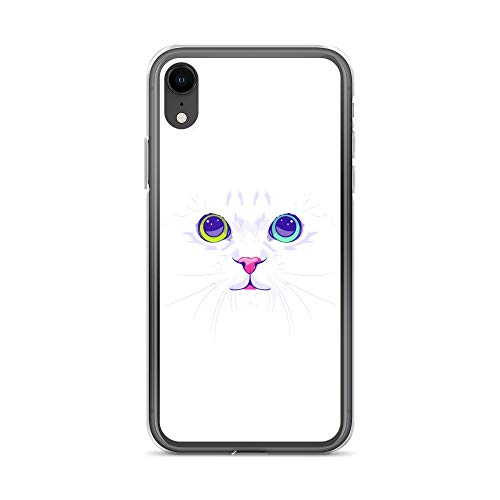 iPhone XR Case Anti-Scratch Creature Animal Transparent Cases Cover White Cute Cat Animals Fauna Crystal Clear]()