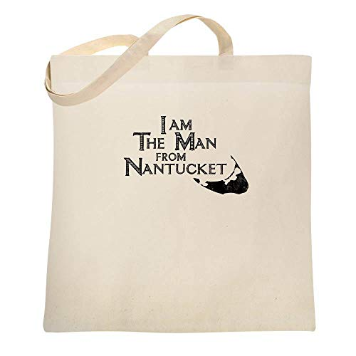 I Am The Man From Nantucket Funny Limerick Natural 15x15 inches Canvas Tote Bag