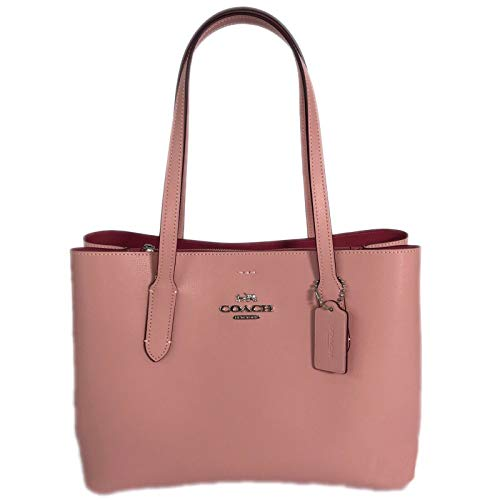 (Coach Leather Avenue Carryall Tote Purse - #48733 - Petal Pink/Strawberry)