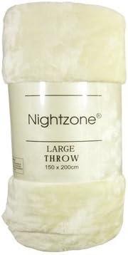 Nightzone Plaid imitation fourrure/ Lit double /polaire douce et chaude Motif animaux pour lit simple//double//Lit King Size Turquoise