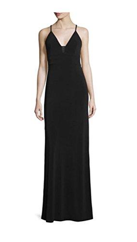 - Alice + Olivia Devlin Maxi Dress with Sheer Inset, Black, Size 2