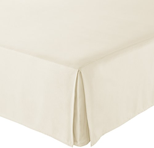 AmazonBasics Pleated Bed Skirt - King, Beige
