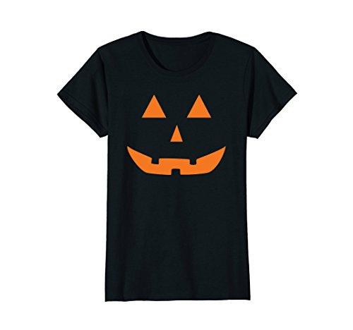 Womens Jack O' Lantern Pumpkin Halloween Costume T-Shirt