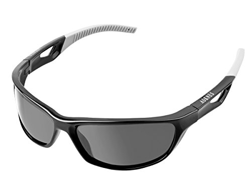rts Sunglasses for Men Women Baseball Running Cycling Fishing Golf Tr90 Durable Frame (Black Frame/Polarized Black Lens) (Best Sports Sunglasses)