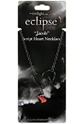 "Twilight ""Eclipse"" Jacob Script Heart Necklace"