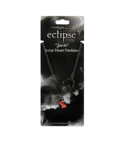 Twilight Eclipse Jacob Script Necklace