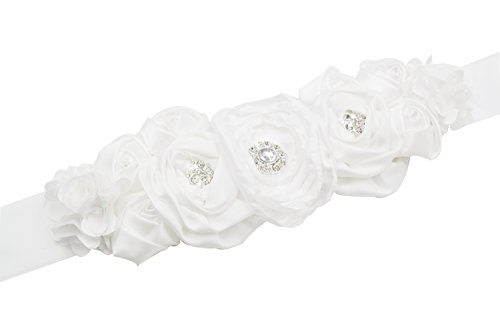 Floral Fall Flowers Maternity Sash for Wedding Sashes Romantic Flowers Belt SH-02 - Belt Floral