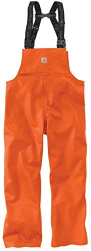 (Carhartt Men's 101982 Belfast Bib Overall - Medium Regular - Orange )