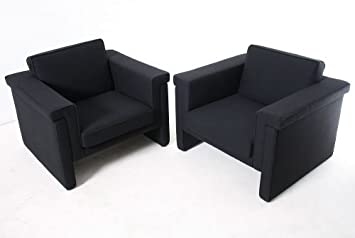 2er Set Designer Sessel Textilbezug Schwarz Gebrauchte Buromobel