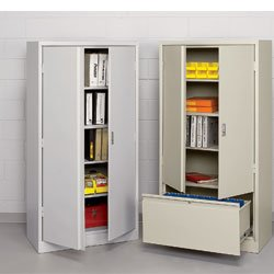 - ATLANTIC METAL Storage Cabinets - Light gray