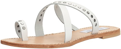 Becky Toe Ring Cuir Sandal Steve Blanc Women's Madden xgFwtqqEA