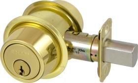 Schlage B562P-605 Grade 2 Deadbolt-Double Cylinder, 605 - Bright Brass, Adjustable 2-3/8 Or 2-3/4'' Backset, Non Handed, Steel; Zinc; Brass by Schlage Lock Company