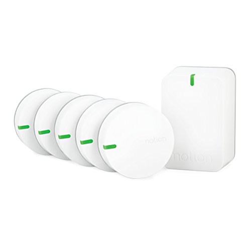 Notion All In One Smart Home Monitoring System (Starter Kit with 5 Sensors and 1 Bridge) Get Alerts For Doors, Windows, Garage Doors, Temperature, Water Leaks and Smoke Alarms by NOTION