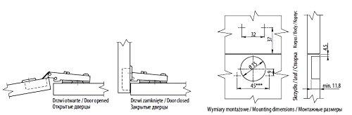 20 x scharnier f r k chenschr nke standard t rscharniere off t r zum einlegen des. Black Bedroom Furniture Sets. Home Design Ideas