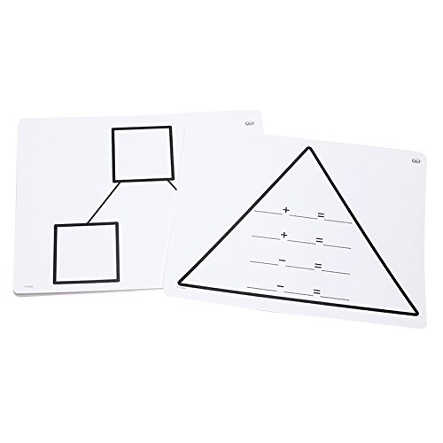 Didax Educational Resources Write-On/Wipe-Off Fact Family Triangle Mats: Addition Math Resource ()