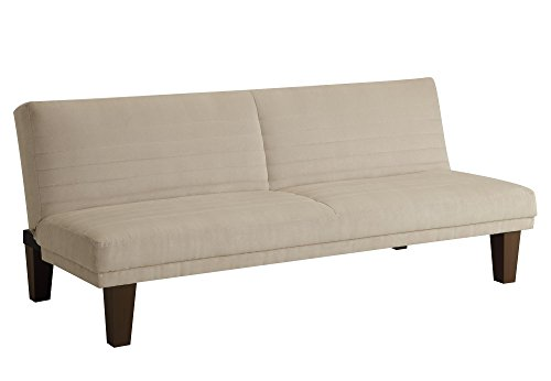 amazon    dhp dillan convertible futon couch bed with microfiber upholstery and wood legs   tan  kitchen  u0026 dining amazon    dhp dillan convertible futon couch bed with microfiber      rh   amazon