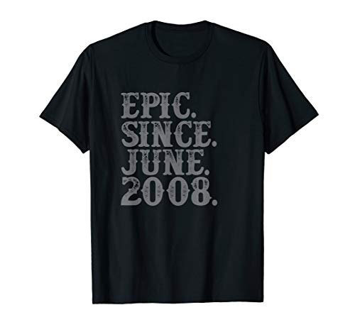 - Vintage Epic Since June 2008 Birth Year Legend Awesome Gifts T-Shirt