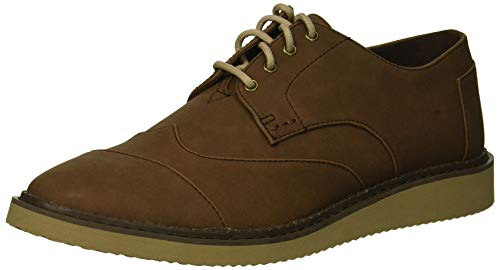 TOMS Men's Brogue Oxford, bark Synthetic Leather, 9.5 Medium US