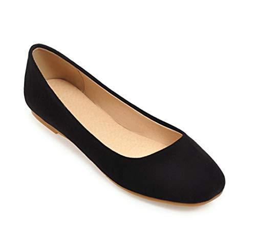 Balletto Seraph Flat 245 Square Donna Toe Camoscio Scarpe Pompe Donne Dolly Black 55 fqfWwrFz