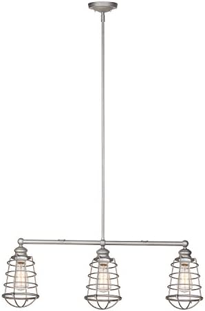 Design House 519744 Ajax 3 Light Pendant, Galvanized Steel Finish