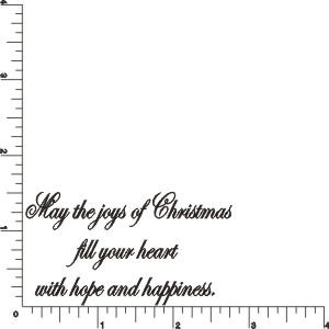 Joy of Christmas Greeting Rubber Stamp by DRS Designs