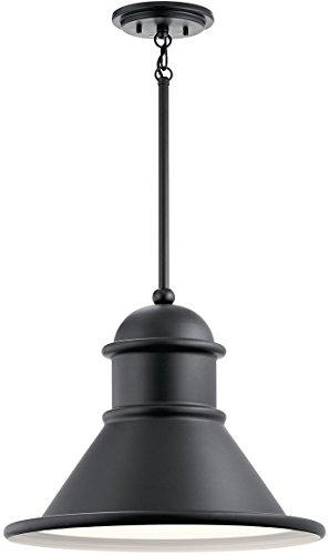 Black 18 Inch Outdoor Pendant - Kichler 49777BK Northland  Outdoor Hanging Pendant 18