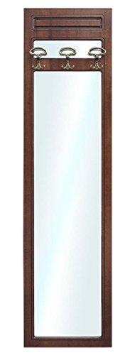 Specchiera Porta Abiti.Pannello Appendiabiti Con Specchio 200 X 50 Cm Con 3 Appendini