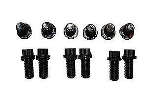 Kooks Custom Headers SB-B60018 Header Bolt Set Chevy Adapter Plate Kit Incl. 3/8 in.-16 in. Internal Allen/Hex Set Of 12 Steel Black Header Bolt Set