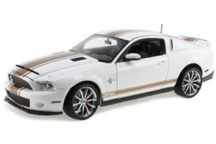 2012 Shelby Mustang GT500 Super Snake White with Gold Stripes 1/18 by Shelby Collectibles SC322B