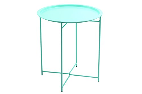 Cheap Finnhomy Collapsible Metal Folding Tray Side Table, Mint Green
