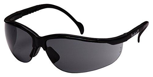 Pyramex Venture Ii Safety Eyewear  Gray Lens With Black Frame