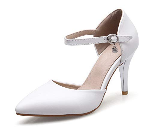 Flats Spillo Fibbia Ballet FBUIDD006456 Tacco Luccichio Puro Bianco A Donna AllhqFashion 8xaAXA