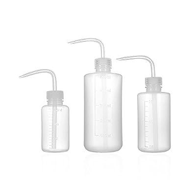 ZELARMAN 3-Pack Plant Flower Watering Bottle/Succulent Watering Cans Plastic Squeeze Bottle With Bend Mouth/Garden & Indoor Watering Tools (150ML,250ML,500ML)