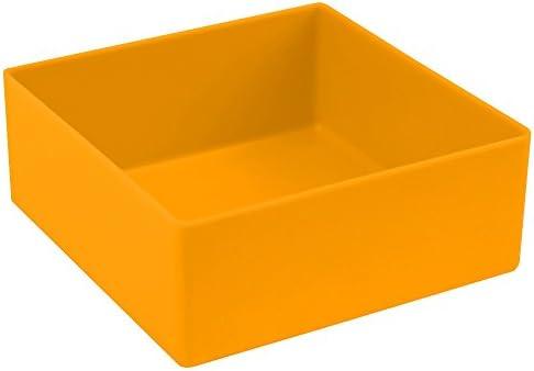 6 Stück Universal-Sortierkästen, gelb, Abm. ca. 10 x 10 x 4 cm (LxBxH)