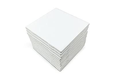 "Matte White Ceramic Tiles 4.25"" x 4.25"" Set of 12"
