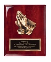 Order Fast Awards Rosewood Heavy Cast Praying Hands Plaque 8
