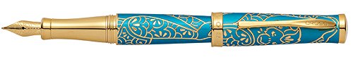 Cross Year of the Monkey Tibetan Teal and 23KT Gold Plate Fountain Pen with Medium Nib (AT0316-22MD ()