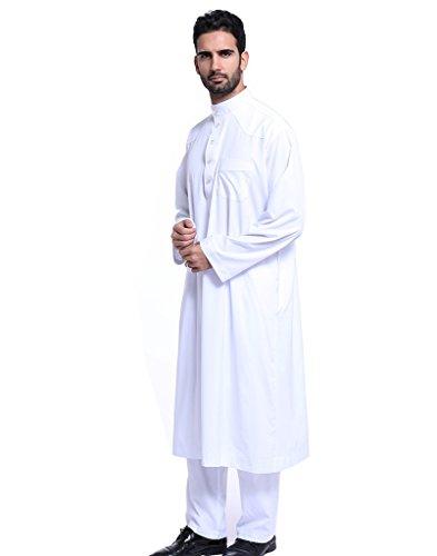 GladThink-Mens-Thobe-With-Long-Sleeves-Arab-Muslim-Wear-calf-Length