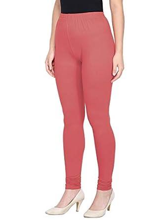 Saundarya Women's Slim Fit Churidar Leggings Soft Stretchable Cotton Spandex Fabric