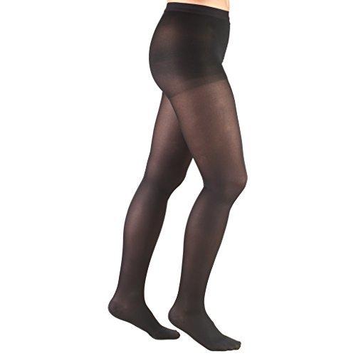 Truform Women's 20-30 mmHg Compression Pantyhose Black Medium [並行輸入品] B07QNRG3RW