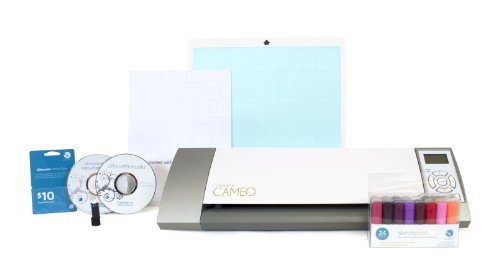 Silhouette Cameo Electronic Cutting Tool Plus Silhouette Sketch Pen Starter Kit for Scrapbooking by Silhouette