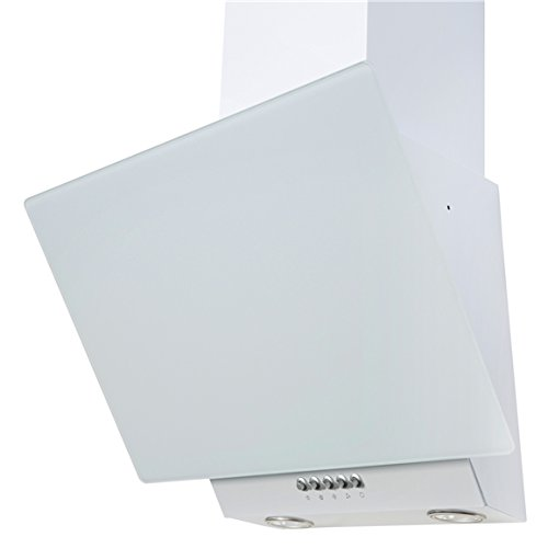 SIA EAG61WH 60cm White Angled Glass Chimney Cooker Hood Kitchen Extractor Fan