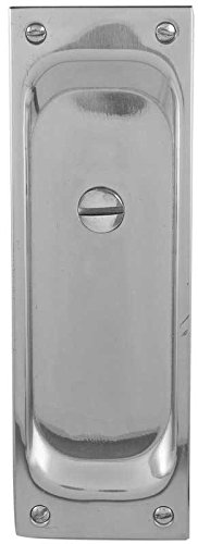 Emtek 2105 7-1/2'' Height Solid Brass Privacy Pocket Door Mortise Lock, Medium Bronze