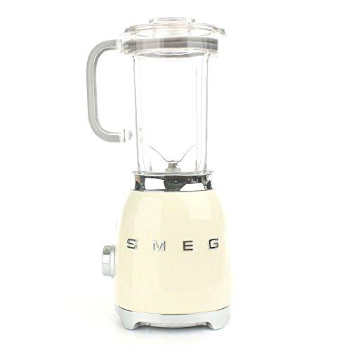 Smeg BLF01CREU – Batidora de vaso 16,3 x 19,7 x 39,7 cm, 1,5 litros (Vidrio, Acero inoxidable, Corriente alterna)