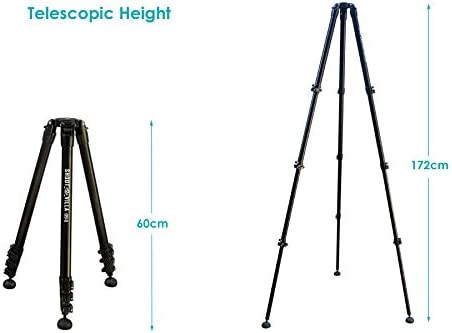 SHOOTVILLA Higrade 6ft 65mm Bowl and Adapter Tripod Stand with Ovoid Pivoting feet