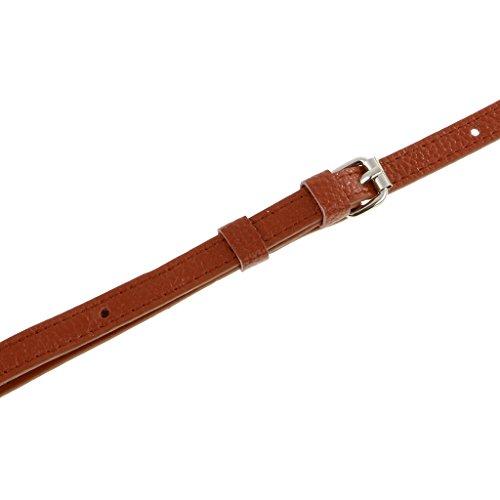 Leather Adjustable Crossbody as MagiDeal 130cm Bag Black Strap Handle 110 Shoulder described Bag Brown Replacement Rta1wBq