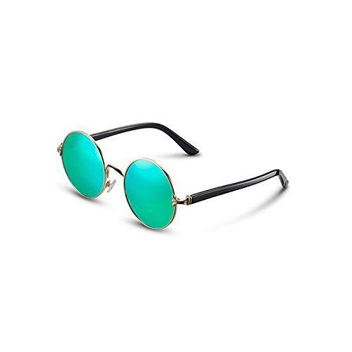 sol UV400 excursionista de Protección mujer Nuevas Personalidad Vint Regalo polarizadas de estrella conducción Gafas gafas Visor casuales de de de Sun libre UV aire al de sol Blue Protección Green gafas Frame para sol Gold tTqZRa0