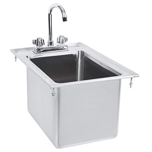 Drop in Sink Stainless Steel One Compartment 12 X 18 x 10