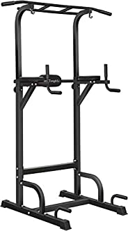 BangTong&Li Power Tower Workout Pull Up & Dip Station Adjustable Multi-Function Home Gym Fitness E