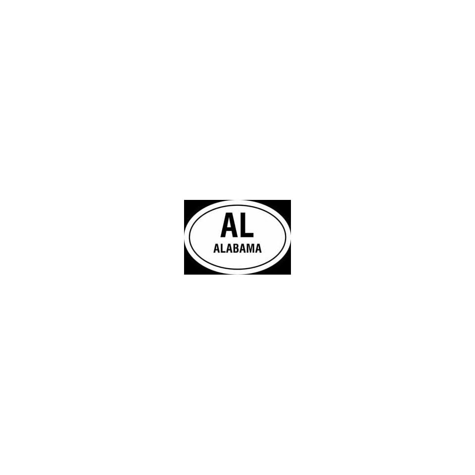 Alabama state EURO style vinyl decal sticker